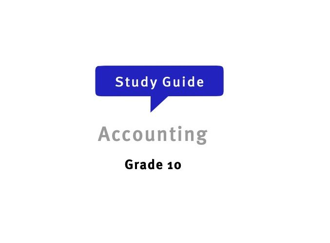 Grade 10 Accounting Free Study Guide for Download PDF